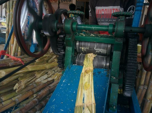 Sugar Cane Sugar Cane Juice No People Metal Machinery Industry Wood - Material Water Indoors