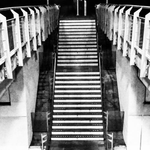 Staring at Stairs ::: Utrecht , Netherlands Utrecht Zuilen Saturdaynight Black&white First Eyeem Photo