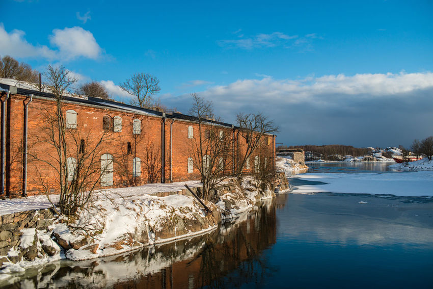 Suomenlinna Architecture Bare Tree Beauty In Nature Building Exterior Built Structure Cold Temperature Day Fortress Fortress Wall Frozen Museum Nature No People Outdoors Red Brick Scenics Sky Snow Suomenlinna Tree Water Weather Winter