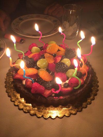 Fruit Tart Happy Birthday! Yum Fruits Delicious Grandpa 81 Eat Dessert