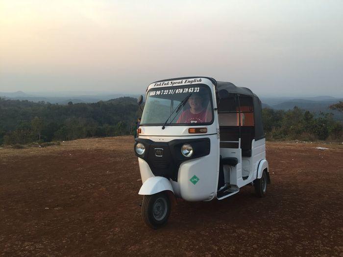 Tuk Tuk Cambodia Transportation Mode Of Transportation Land Vehicle Sky Landscape Nature No People