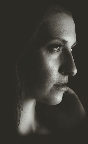 Close-Up Of Young Woman Looking Away