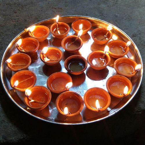 How You Celebrate Holidays Divali Diwali Trinidad And Tobago Deyas Deeya Deya