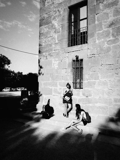 Shooting day Building Exterior Real People Outdoors Day EyeEm Gallery Black And White