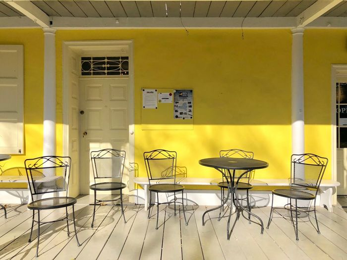 Style Decor Sunny Shadows & Lights Shadows Abundance Yellow Color Light And Shadow Eye4photography  EyeEm Best Shots EyeEm Gallery Shadow Seat Chair Table No People Empty Yellow Architecture Furniture Sunlight Absence Built Structure Capture Tomorrow