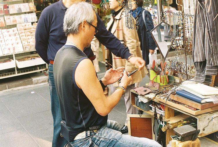 Masterpiece Artisan Master Handmade Accessory Oldman Insadong Antique Shop Seoul, Korea Minolta X700