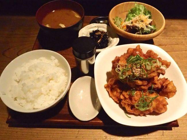 Kyoto Japan Kawaramachi Radio Cafe Fried Food Chickens Food Olympus PEN-F 京都 日本 河原町 ラジオカフェ 唐揚げ ご飯