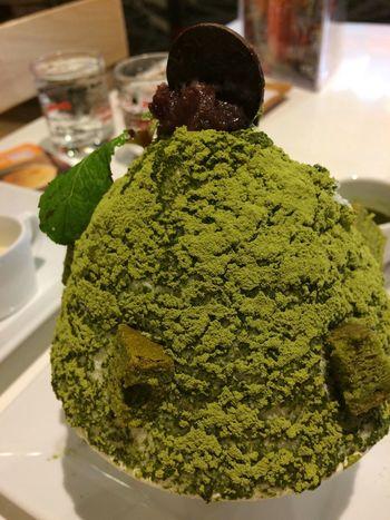 Bing su green tea 🍵 Ice Cream Bingsu Greentea Green Color Green Color Close-up Food And Drink Food Freshness Indoors  Green