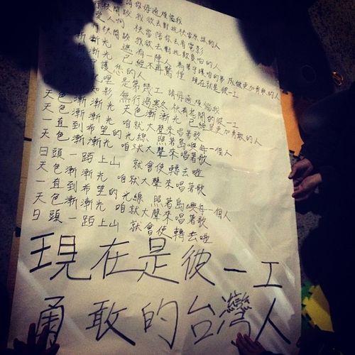 島嶼天光! 勇敢的台灣人!!! 反服貿 反黑箱 台灣人 立法院