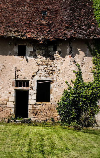 Abandoned Abandoned Buildings Architecture Brick Brick Wall Building Building Exterior Built Structure Damaged Day Deterioration Door Doorway Entrance Grass House Nature No People Old Old Buildings Outdoors Plant Urbex Wall Weathered