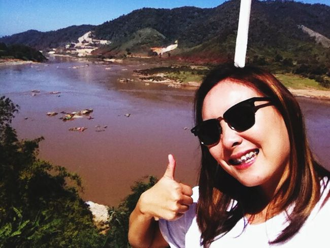 View point at Houay Ian Village. Wieng Kaen District, Chiang Rai Province, Thailand Hello World