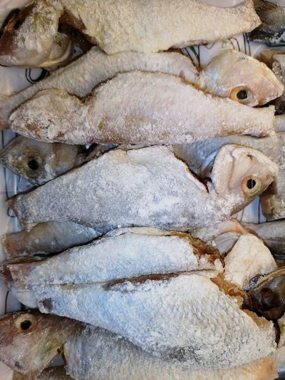 Backgrounds Full Frame Sea Life Seafood Sand Fish Market Beach Fish Close-up Fishing Industry Display Prepared Food