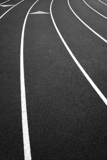 Full Frame Shot Of Running Track