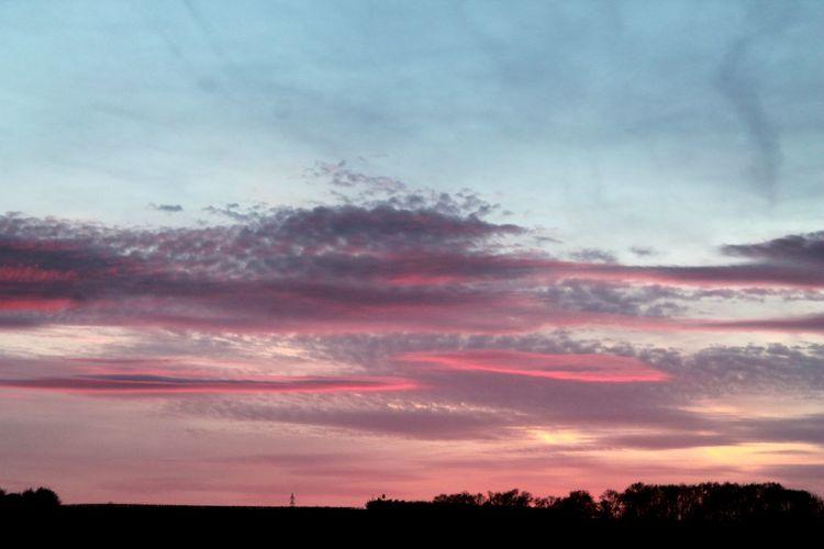🤗 Sunset Tranquil Scene Scenics Silhouette Beauty In Nature Sky Landscape Nature Idyllic Cloud - Sky Dramatic Sky Multi Colored