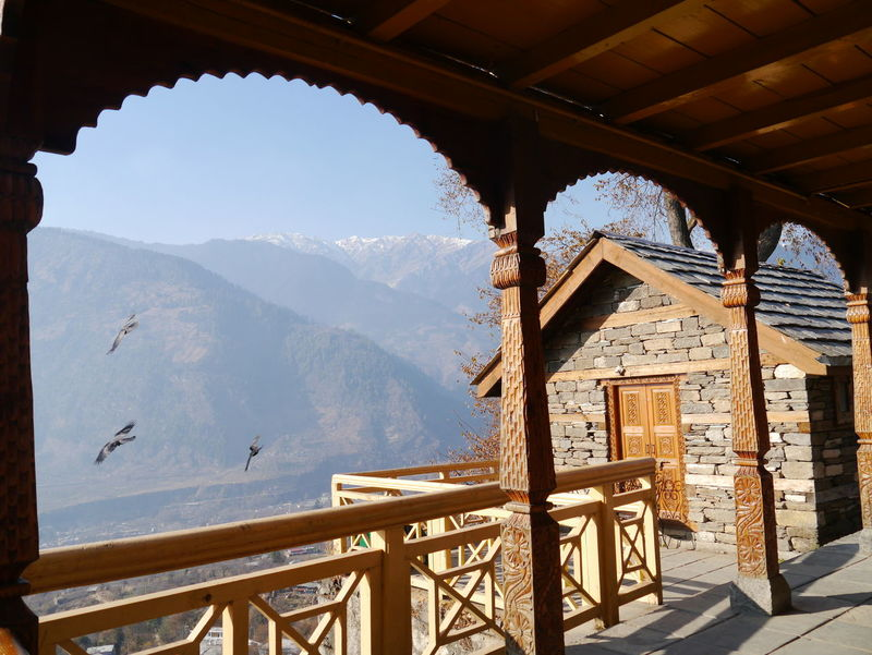 Arch Architectural Column Architecture Beauty In Nature Built Structure Cloud Cloud - Sky Day Kullu Valley Landscape Mountain Mountain Range Naggar Castle Nature No People Scenics Sky Tranquil Scene Tranquility