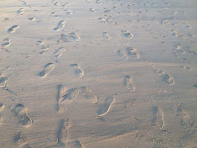 Footprints in the sand, Mablethorpe Sand Beach Footprints