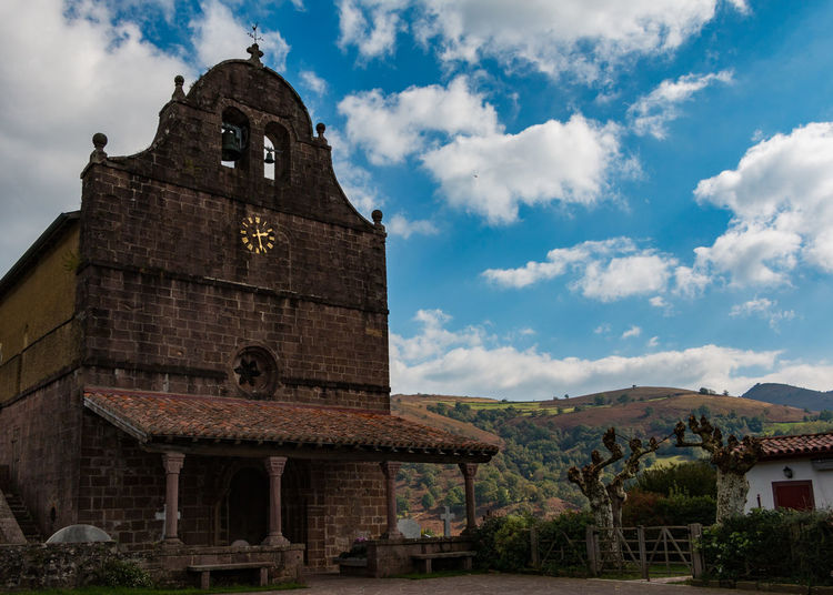 In French Basque Country Architecture Basque Basque Country Building Exterior Church France Low Angle View Place Of Worship Religion Sky Spirituality