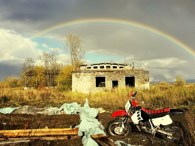#offroad #motocross Rainbow Agriculture Sky Cloud - Sky First Eyeem Photo