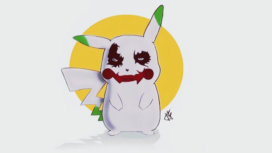 Pokémon Pikachu Pika Pika ♥ Pikachu ❤ Joker ❤️  Joker Pikachu Top Photoshop Photoshop Edit