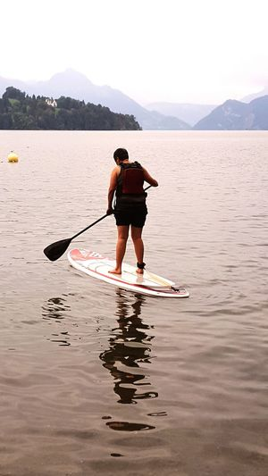 Water Watersports Lifestyles Tranquility Beauty In Nature Lake Lucerne Lake Luzern Switzerland