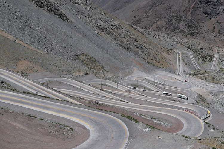 Road Landscape Transportation Environment High Angle View No People Mountain Winding Road Nature Scenics - Nature Highway Day Beauty In Nature City Street Mode Of Transportation Motor Vehicle Land Outdoors Multiple Lane Highway Climate