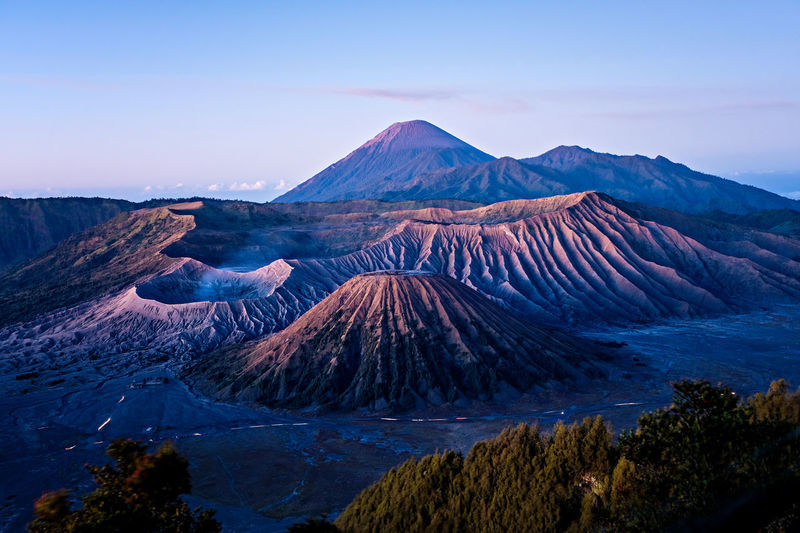 The view of mount bromo in the morning