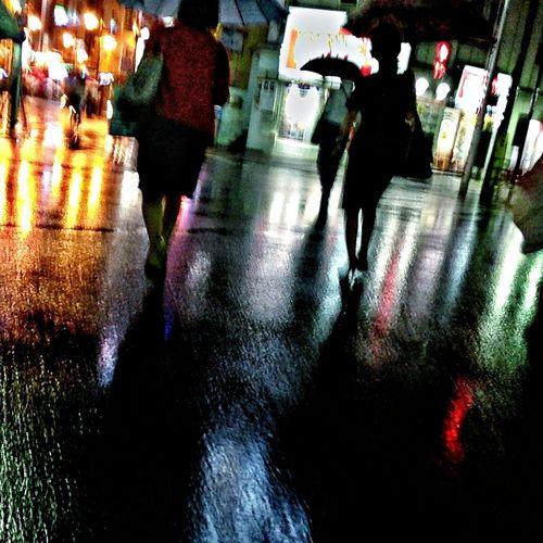Nightphotography The Street Photographer - 2014 EyeEm Awards Rain Night Lights