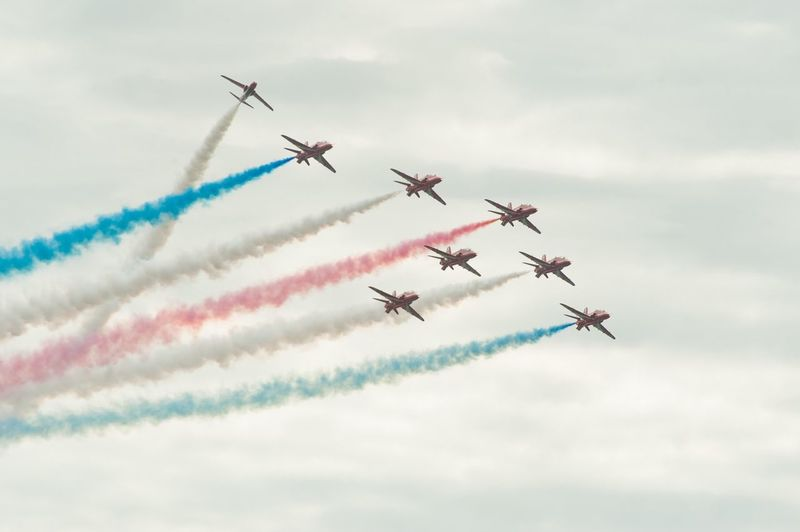 Teamwork Smoke - Physical Structure Speed Fighter Plane Formation Flying first eyeem photo