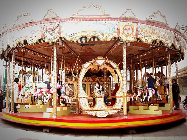 Carousel Children Fun Rides Enjoying Life Having Fun Hanging Out Taking Photos Relaxing
