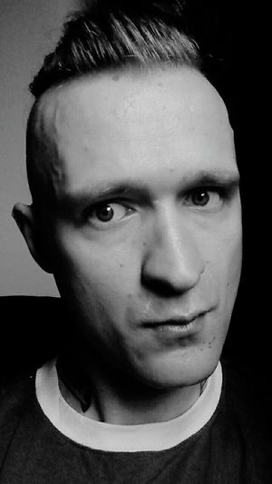 Eye4photography  Black & White Monochrome Faces Of EyeEm Mohawk It's Me Black And White Punx Metalhead Vegan