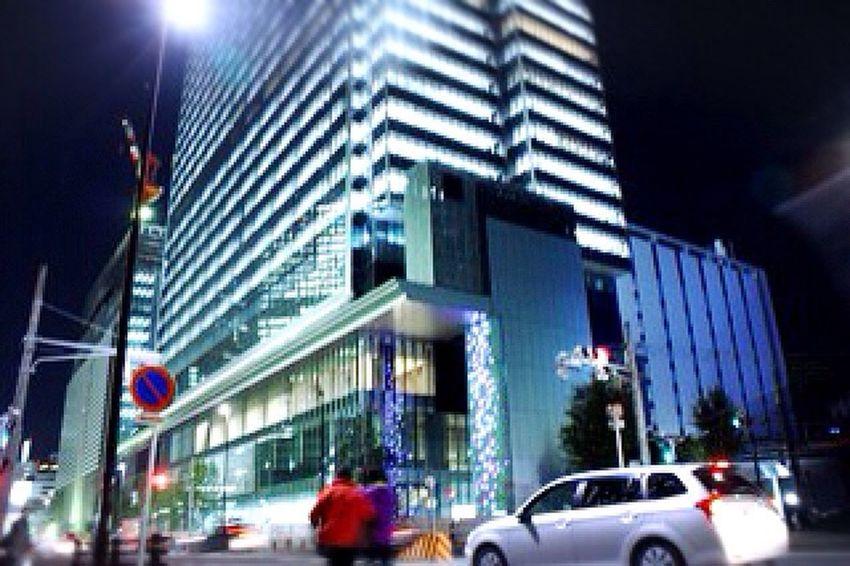 名古屋駅 夜の街 写真練習中