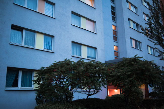 Berlin Architecture Building Building Exterior Built Structure City Day Dusk Germany Illuminated Low Angle View No People Outdoors Plant Residential District Tree Wall - Building Feature Window