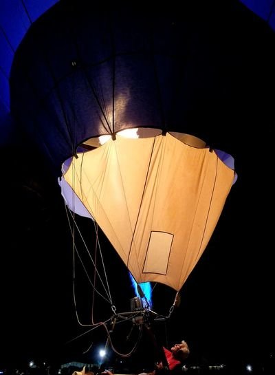 Low Angle View Illuminated Hot Air Balloon Hot Air Balloons Evening Sky Ballooning Festival Hot Air Balloons Leisure Activity Outdoors Multi Colored Fun Arts Culture And Entertainment Night Nightburn Burn Fire Propane Burner Be. Ready.