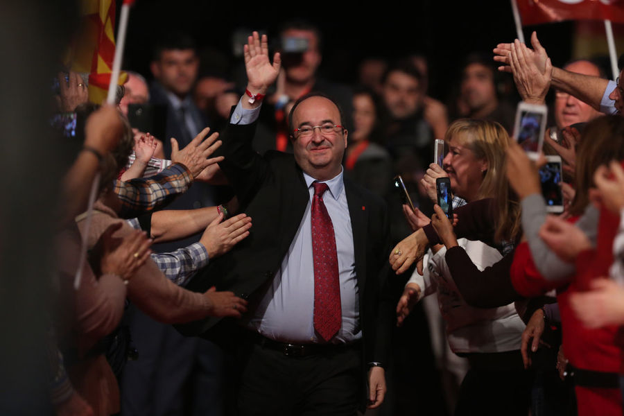 Miquel Iceta, fron Socialist Party of Catalunya, on december 18th,, before the elections fot the Generalitat, in Barcelona Barcelona Elections Catalunya Generalitat De Catalunya SPAIN Icetaps Politician Socialist Party