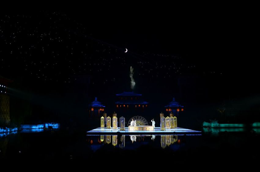 Night Dome Politics And Government Religion Travel Destinations Arts Culture And Entertainment Business Finance And Industry Architecture Illuminated Place Of Worship Outdoors City Sky Show Chinese History Ballet Dancer Xian China 长恨歌 Stage Love Story