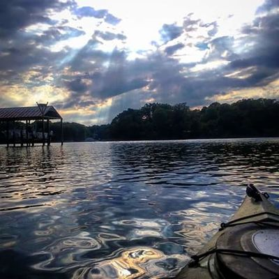 My Backyard Oasis On The Water No People Kayaking In Nature Absolutely Beautiful Breathtaking Sun And Clouds Sun Rays Beautiful Colors Water Reflections California MD USA