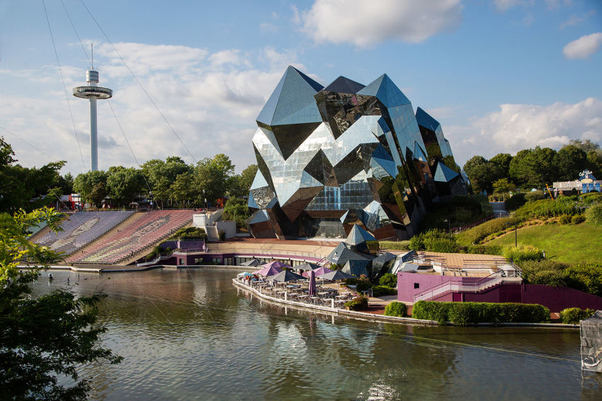 Futuroscope Theme Park Futuroscope Theme Park | Poitiers - France Futuroscope2017 Leisure Park Architecture Building Exterior Built Structure City Cloud - Sky Day Leisure Activity Lifestyles Men Nature Nautical Vessel Outdoors People Real People Sky Tree Water Waterfront