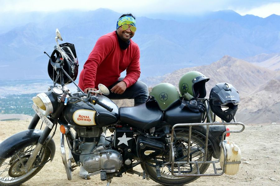 Motorcycle Biker Rider Bike Rider Fog Mountain View Sky And Clouds Foggy Mountains Modeling Model Pose Model Model Type