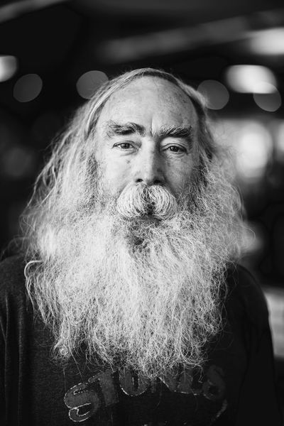 Earl Black And White Zeiss Milvus 85 F/1.4 Nikon D810 Texas Beard Hair Older Man