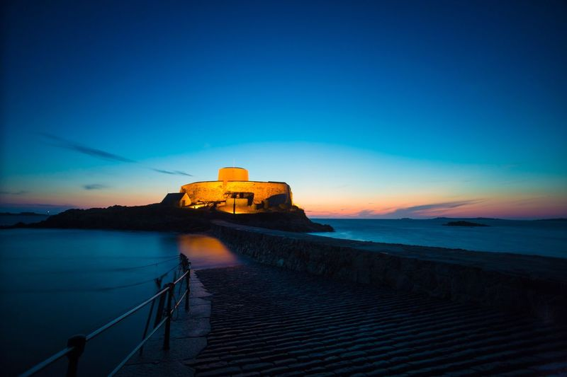EyeEm Selects Guernsey Sunset evening sky longtimeexposure Fortgrey night dark summernight