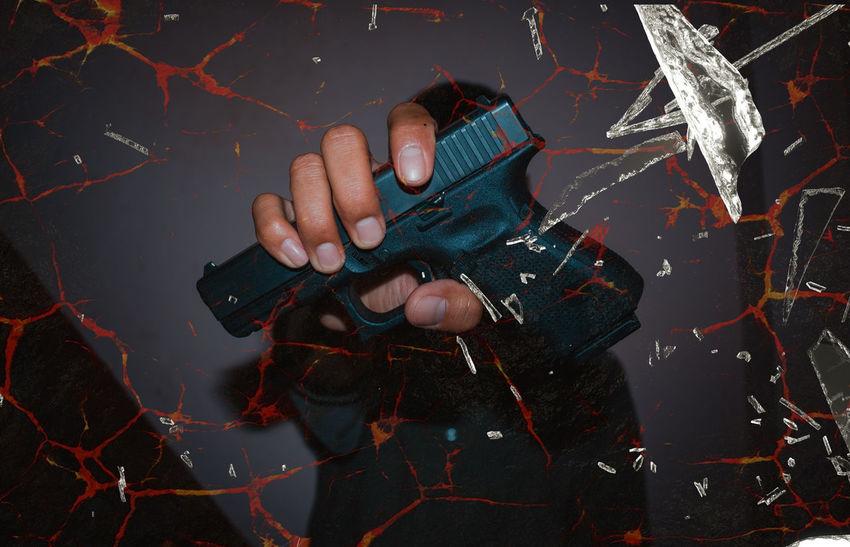 Male hand holding gun on black background.#Glock 19 Gen4. Man Dead Glock19 Glock19gen4 Hand Handgun Killer Killerminimal Scary