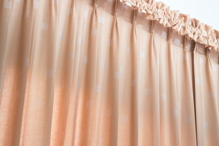 Curtain Hanging In Bedroom At Home