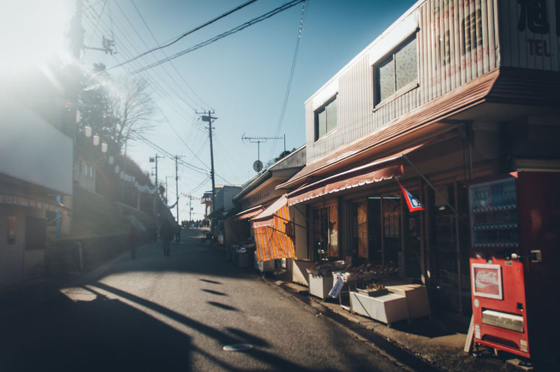 Japan Travel Calm Japan Travel Countryside Retro Styled Japan Culture Daytime Nostalgia Nostalgic  People Holiday Vacations Narrow Street Light Light And Shadow Sunlight Flare Transportation Rail Transportation Architecture Mode Of Transportation Building Exterior Public Transportation Train Built Structure Sky Nature City Cable Train - Vehicle Track Street Railroad Track Power Line  Day Electricity  No People Outdoors My Best Photo