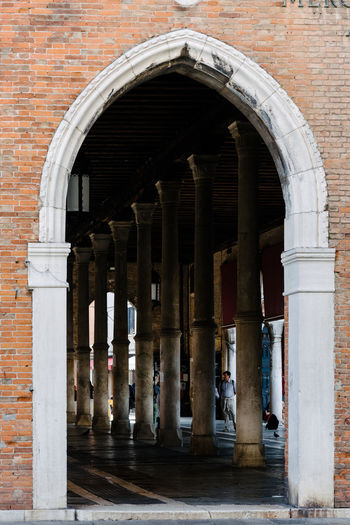 Venice Venice, Italy Architecture Arch Built Structure Architectural Column Building Building Exterior The Past History Arcade No People Colonnade Entrance Day Corridor In A Row Outdoors Wall Travel Destinations Brick Wall Brick Ancient Civilization Abbey Arched