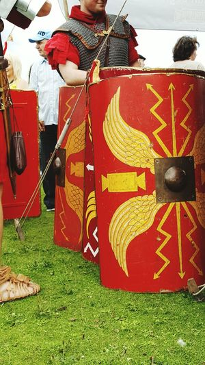 Roman Soldier Reenactment Re-enactment Shield Chainmail Chainmaille Isca Legionnaire Romans History British History