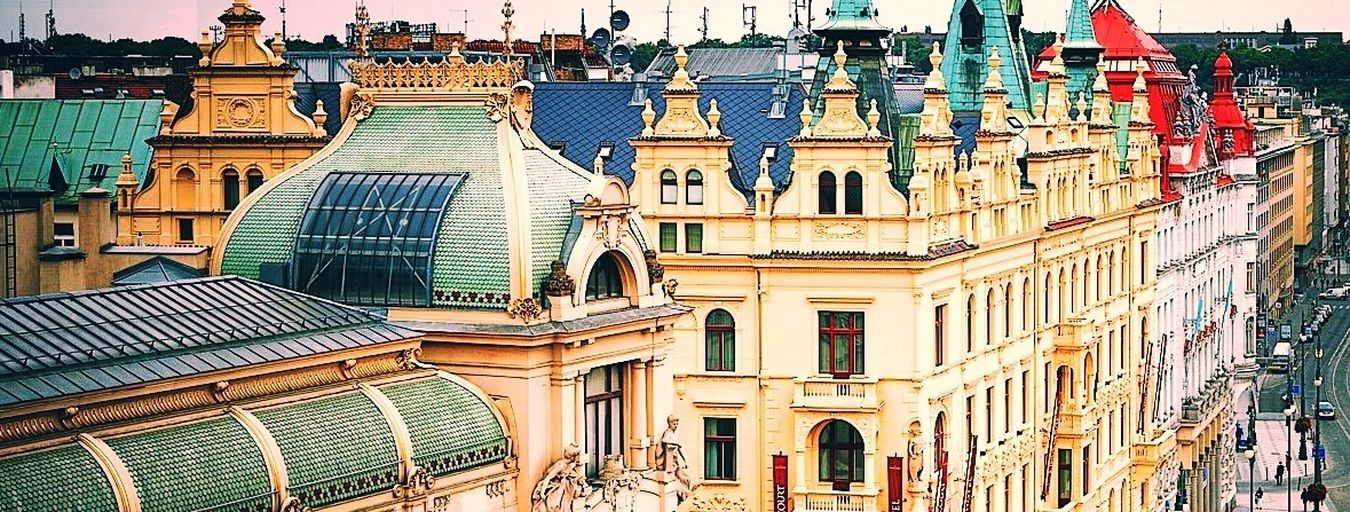 The roofs of the Prague Old Town