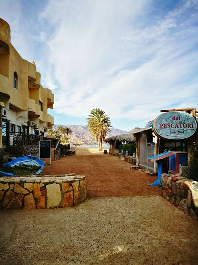 Italianrestaurant Dahab RedSea Seaside Landscape Sea Water Outdoors Sky Palm Tree Palms Sinai Egypt
