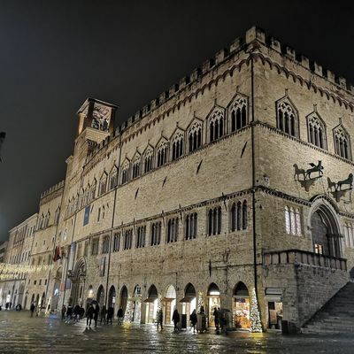 Perugia Umbria Italy City Illuminated History Nightlife Arch Sky Architecture Building Exterior Built Structure Palace