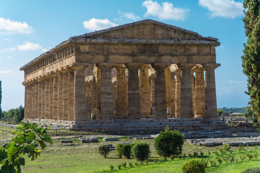 Paestum Roman ruins, Italy Temple Of Neptune Temple Roman Ruins Sky Built Structure Architecture Plant History Nature The Past No People Architectural Column Ancient Outdoors Building Exterior Cloud - Sky Day Ancient Civilization Tree Sunlight Travel Destinations Old Ruin Travel The Architect - 2018 EyeEm Awards