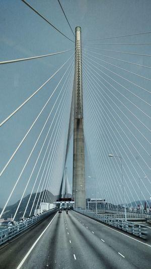 City Cityscape Modern Urban Skyline Suspension Bridge Road Bridge - Man Made Structure Car Sky Architecture